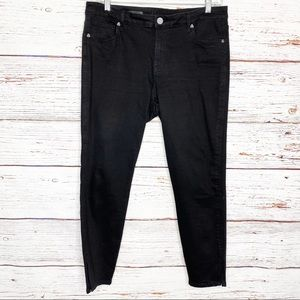 Kut from the Kloth side slit skinny ankle jeans